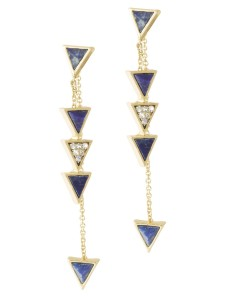 house of harlow triangle trellis lapis earrings